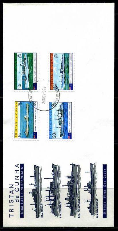 E01158)Tristan da Cunha FDC 249/52 Royal Navy