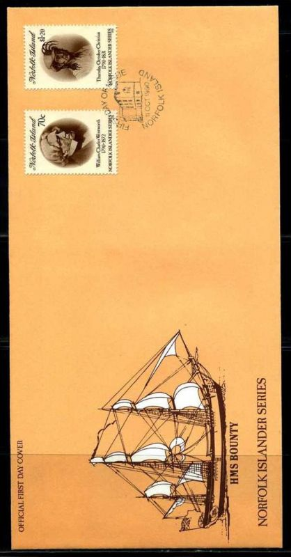 E01409)Norfolkinseln FDC 488/9 Bounty