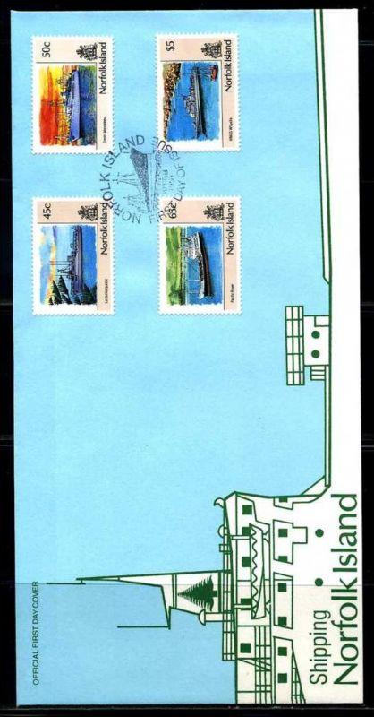 E01410)Norfolkinseln FDC 495/8 Schifffahrt