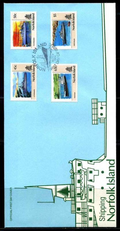 E01411)Norfolkinseln FDC 495/8 Schifffahrt