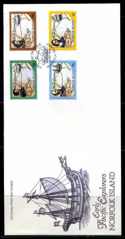 E01418)Norfolkinseln FDC 556/9 Entdecker