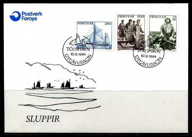 E02130)Färöer Inseln FDC 103/5
