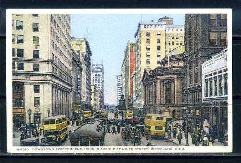 K11019)Ansichtskarte: Cleveland, Euclid Avenue