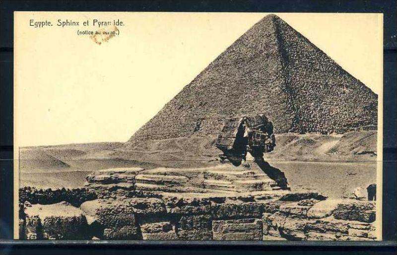 K11024)Ansichtskarte: Sphinx + Pyramiden