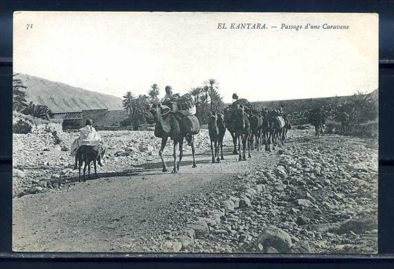 K11025)Ansichtskarte: El Kantara, Kamelkarawane