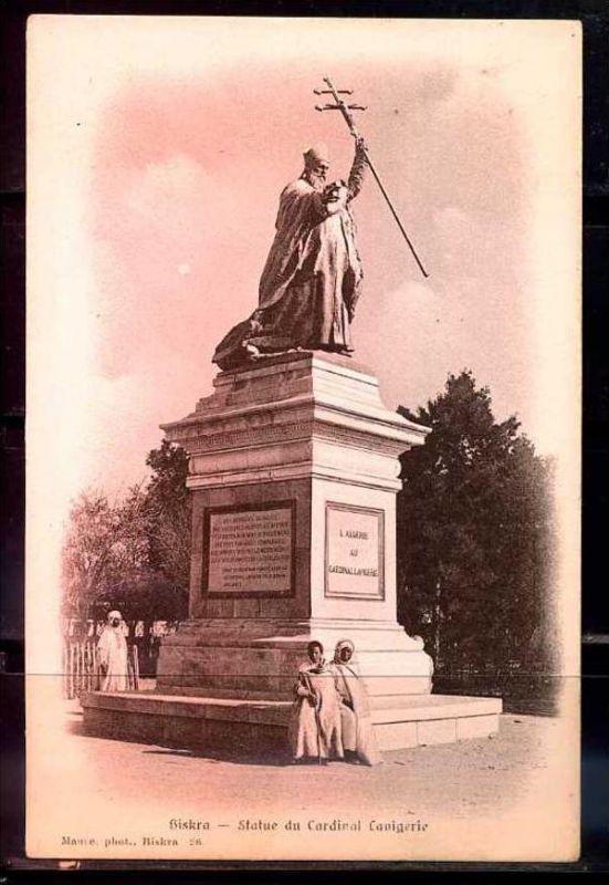 K11028)Ansichtskarte: Biskra, Denkmal Kardinal Lavigerie