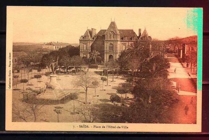 K11033)Ansichtskarte: Saida, Place de l`Hotel-de-Ville