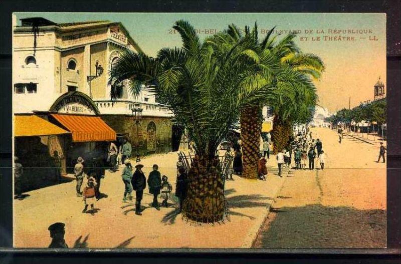 K11038)Ansichtskarte: Sidi-Bel-Abbes, Boulevard de la Republique