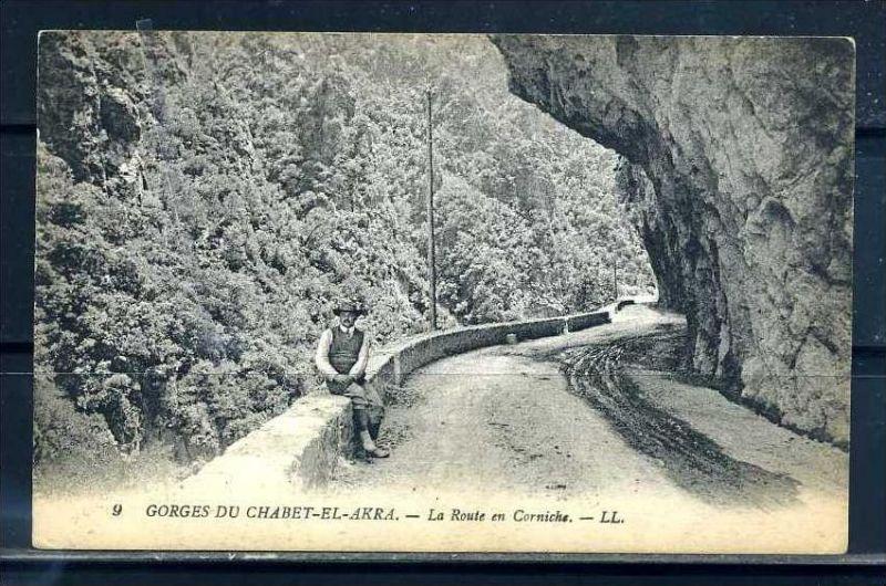 K11044)Ansichtskarte: Gorges du Chabet-el-Akra, Route en Corniche