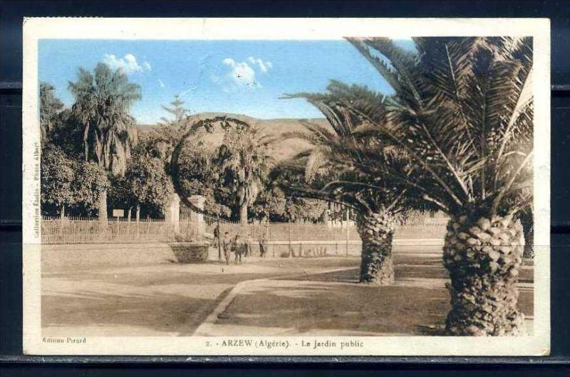 K11045)Ansichtskarte: Arzew, Le Jardin Public
