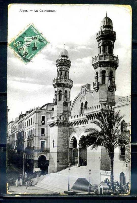 K11052)Ansichtskarte: Algier, La Cathedrale