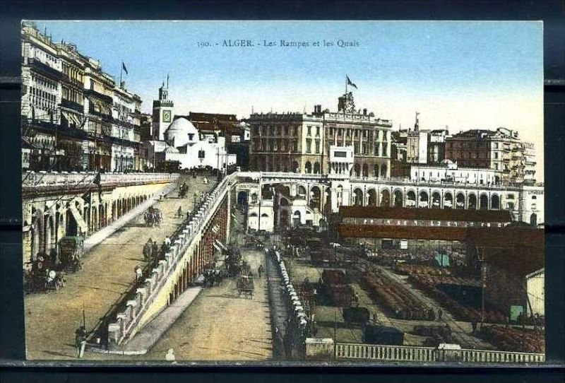 K11056)Ansichtskarte: Algier, Les Rampes et les Quais