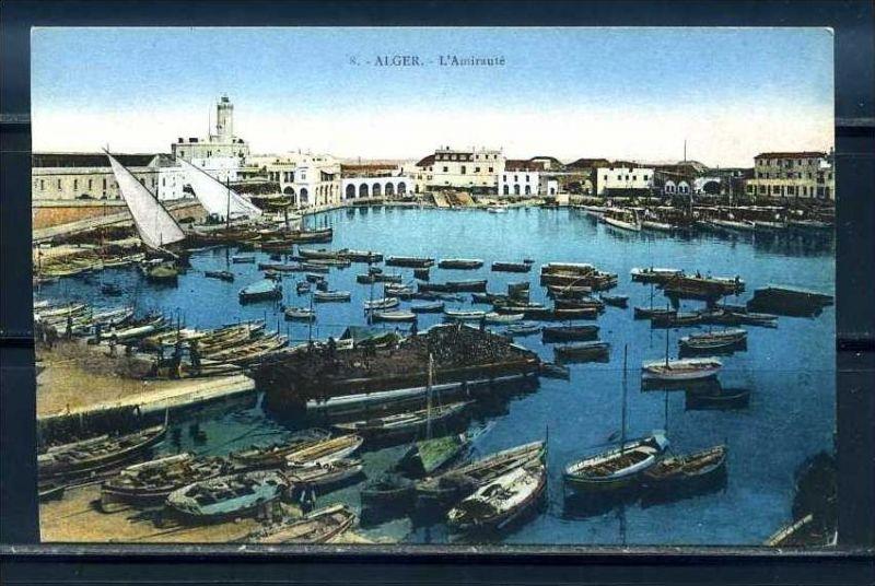K11058)Ansichtskarte: Algier, Hafen