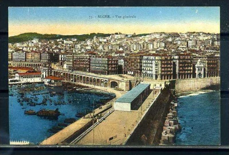 K11059)Ansichtskarte: Algier, Hafen
