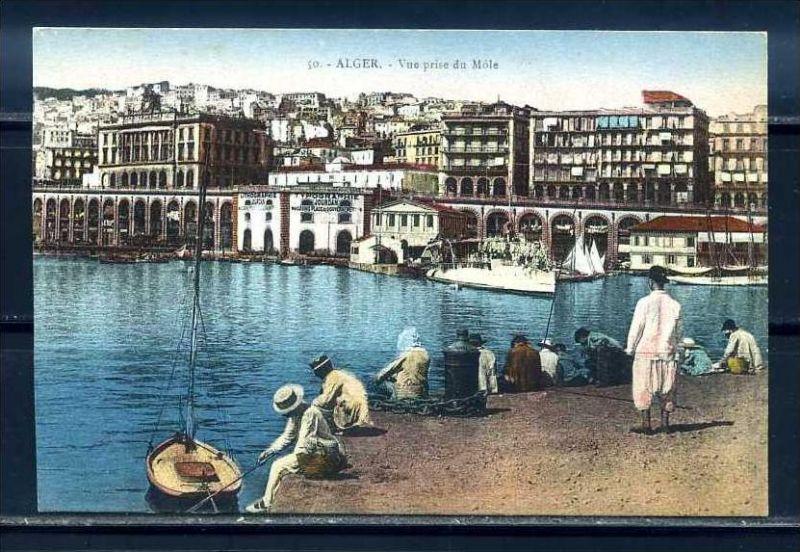 K11060)Ansichtskarte: Algier, Hafen