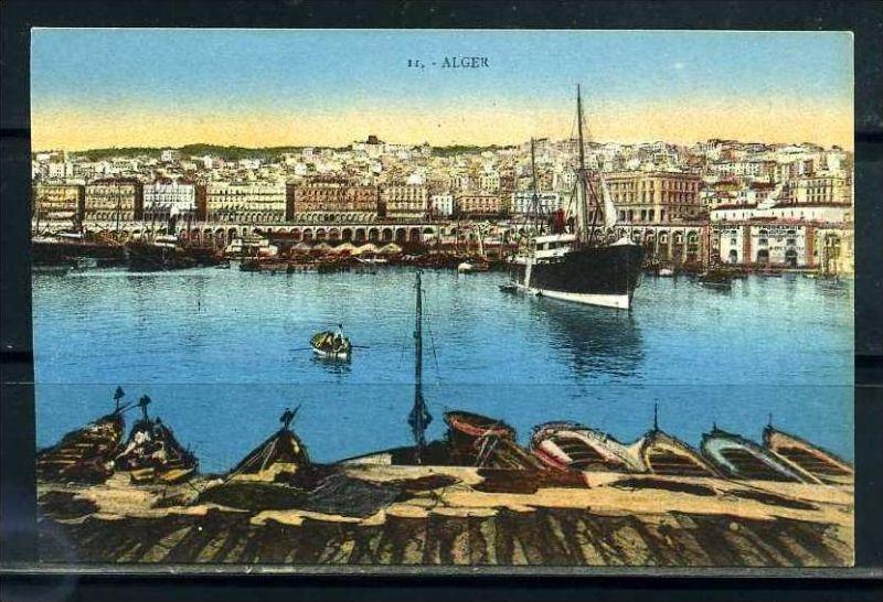 K11061)Ansichtskarte: Algier, Hafen