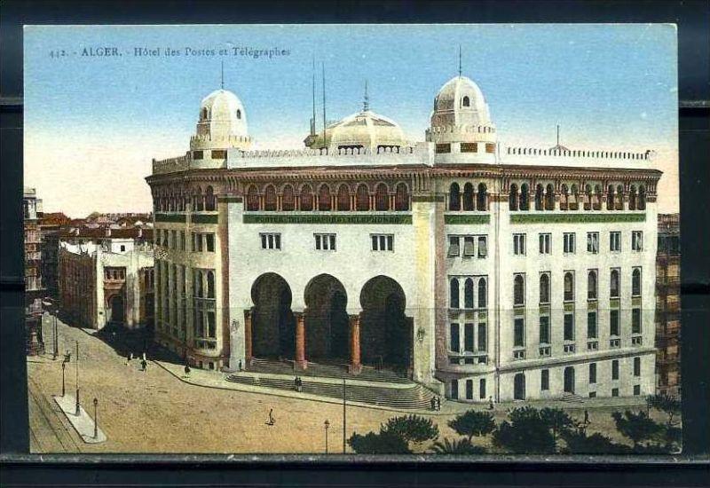 K11062)Ansichtskarte: Algier, Hotel des Postes et Telegraphes
