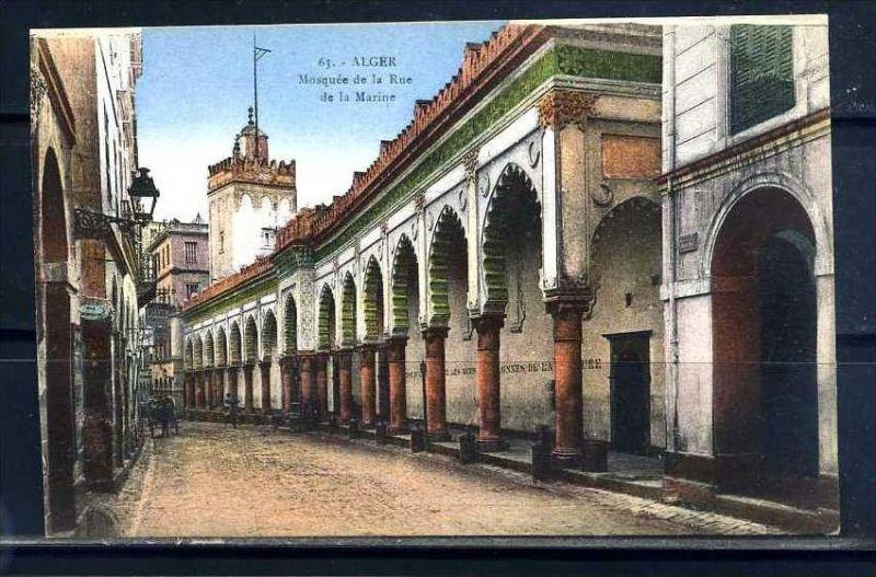 K11063)Ansichtskarte: Algier, Mosquee de la Rue de la Marine