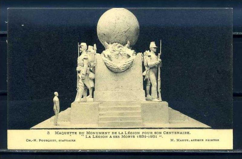 K11066)Ansichtskarte: Denkmal Fremdenlegionäre