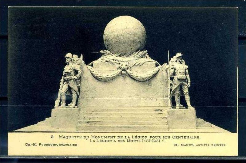K11067)Ansichtskarte: Denkmal Fremdenlegionäre