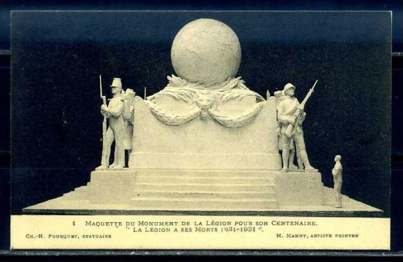 K11068)Ansichtskarte: Denkmal Fremdenlegionäre