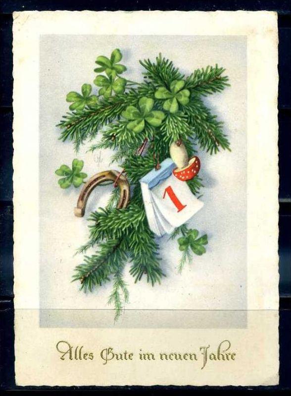 K11457)Grusskarte: Neujahr