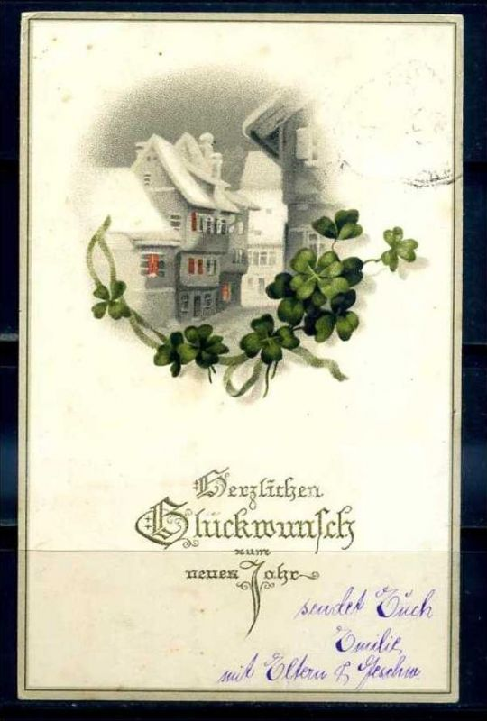 K11465)Grusskarte: Neujahr