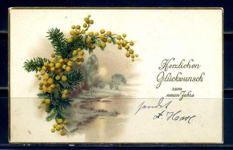 K11469)Grusskarte: Neujahr