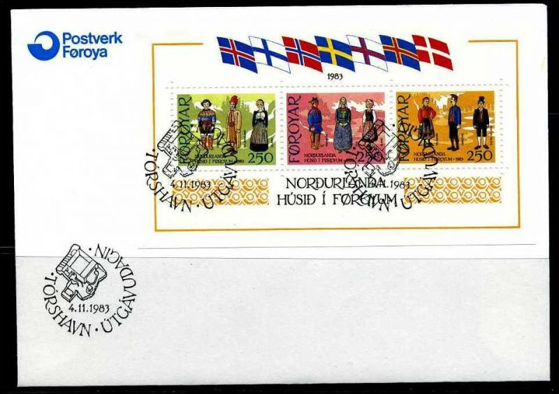 E04668)Färöer FDC Block 1