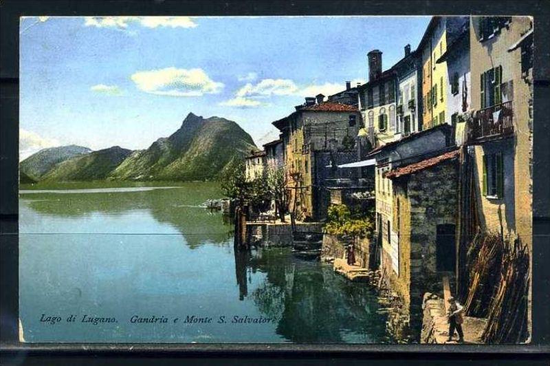 K9498)Ansichtskarte: Lugano, Gandria