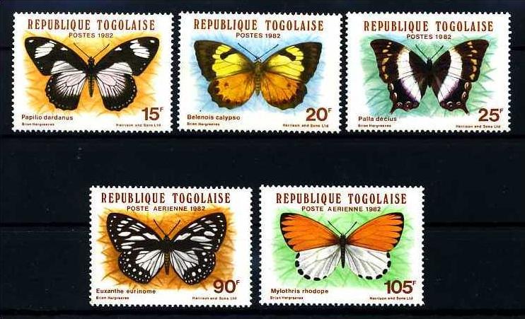 E11111)Schmetterling, Togo 1607/11**