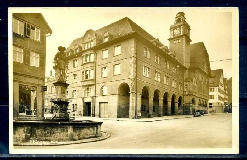 K8000)Ansichtskarte: Ebingen, Rathaus