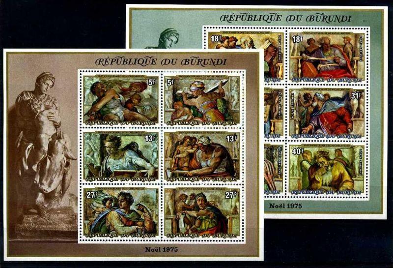 E17735)Michelangelo, Burundi Bl 88 A** + 89 A**