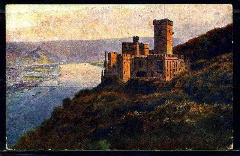 K2598)Ansichtskarte Schloss Stolzenfels
