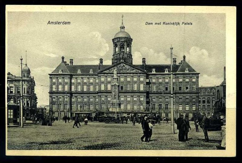 K2837)Ansichtskarte Amsterdam - Königsschloss