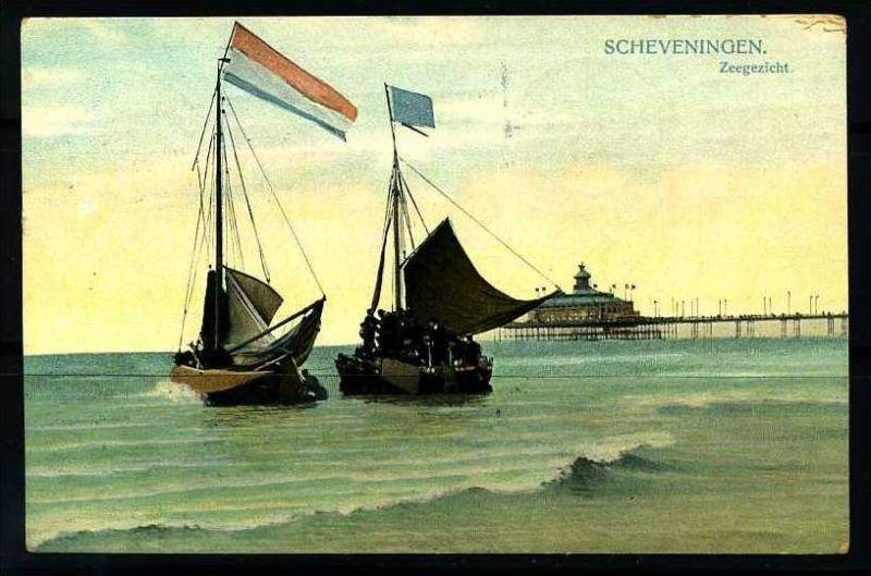 K2839)Ansichtskarte Scheveningen 1909