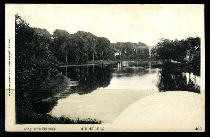 K2843)Ansichtskarte Middelburg - Langeviele-Bolwerk 1908