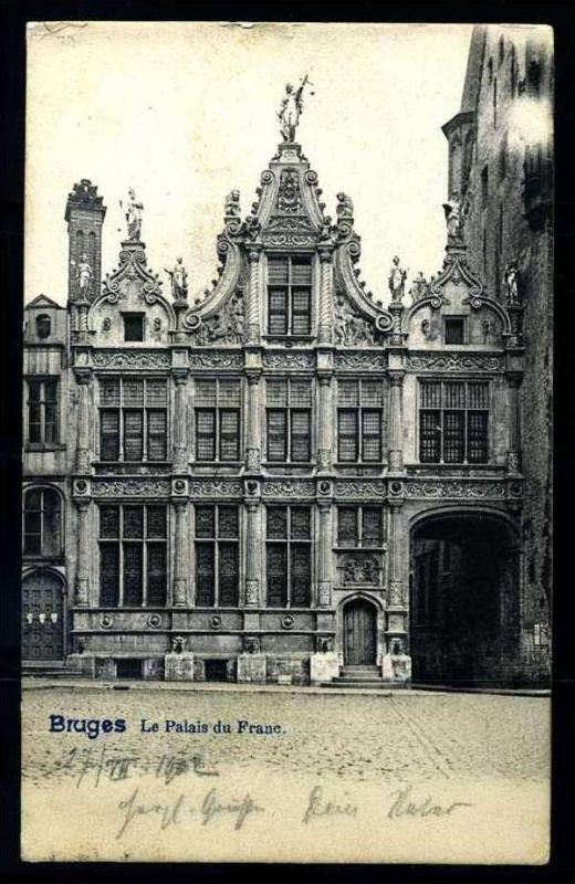 K2897)Ansichtskarte Brugge 1902
