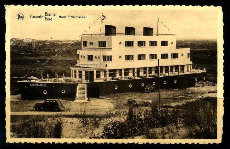 K2899)Ansichtskarte Coxyde Bains - Hotel Normandie
