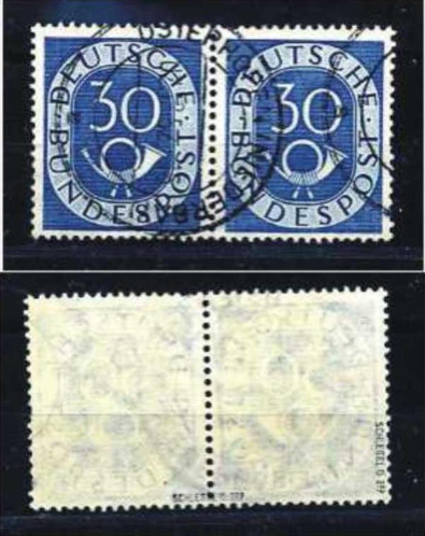 Z19884)Bund Posthorn 132 Paar gest., gepr. Schlegel