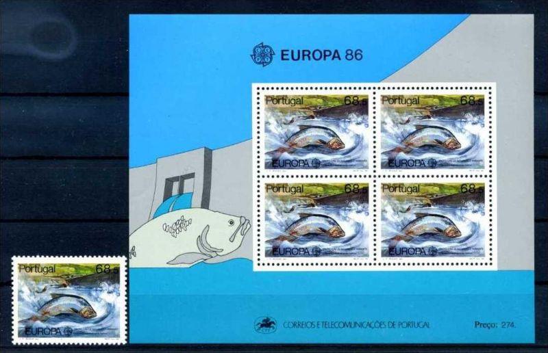 E22448)Fische, Portugal 1690** + Bl 50**