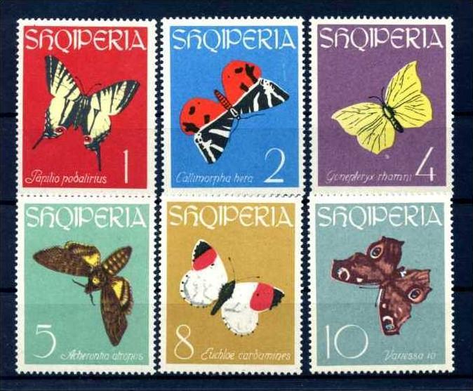 E22466)Schmetterlinge, Albanien 773/8**