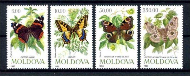 E22469)Schmetterlinge, Moldawien 77/80**
