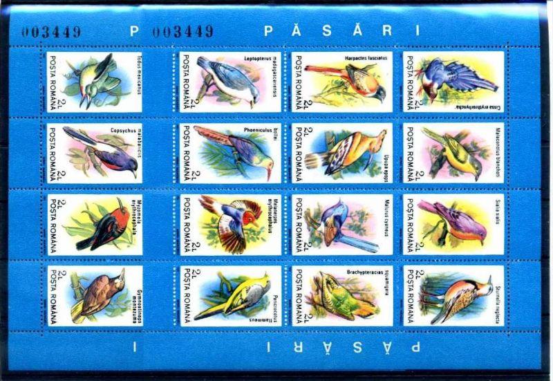 E22504)Vögel, Rumänien Bl 265** + 266**