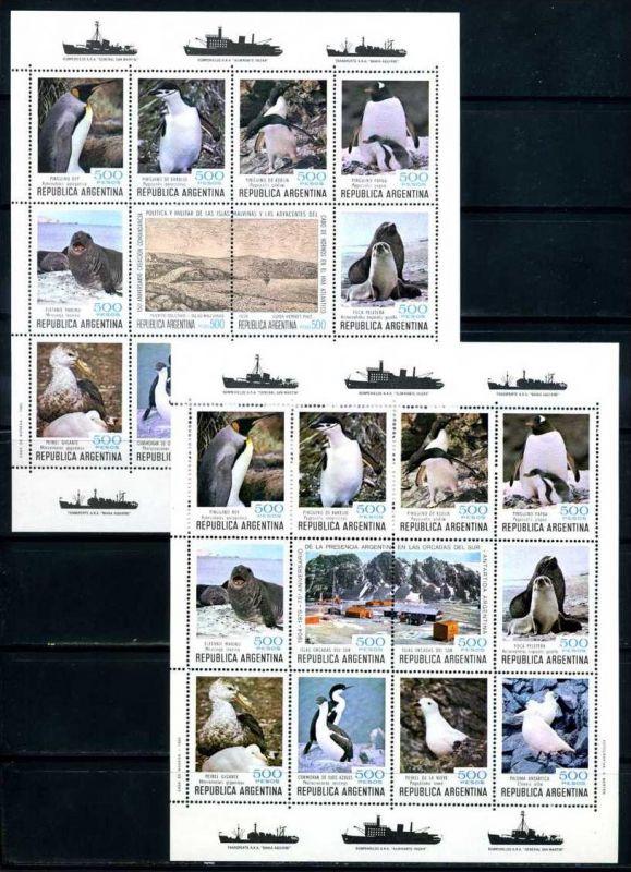 E22511)Vögel, Argentinien 1465/78 ZDR-Bogensatz**
