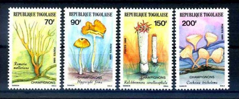 E24629)Pilze, Togo 1966/9**