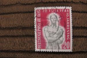 Briefmarken 1954 Berlin: 10.Jahrestag Attentat auf Hitler - 20 Pf. gestempelt