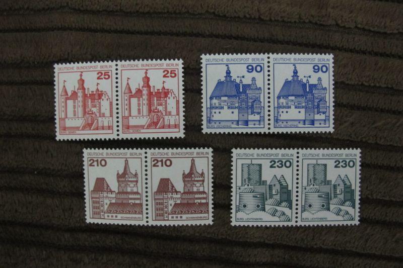 Briefmarken Berlin 1978 Serie Burgen u.Schlösser (II) als Paare kpl. postfrisch