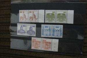Briefmarken Berlin 1982 Serie Burgen u.Schlösser (V) als Paare kpl. postfrisch