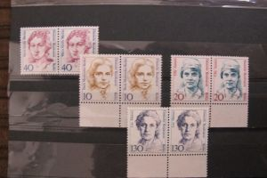 Briefmarken Berlin 1987-1988 Frauen der Geschichte (II-IV), postfrisch, komplett, als Paare!